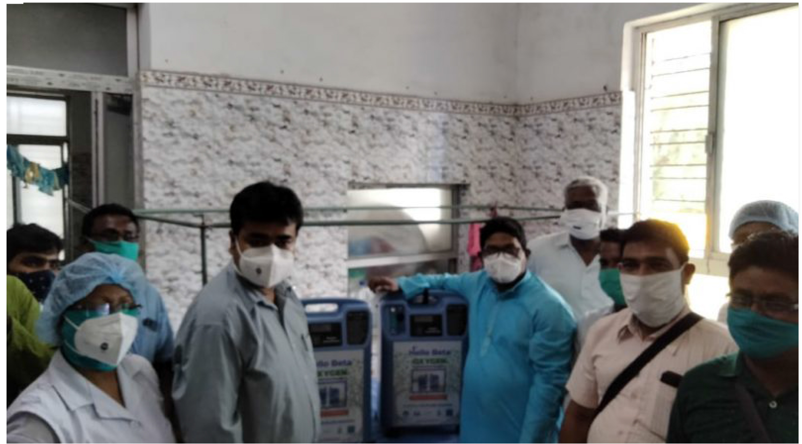 To Help The Covid Patients Mukti Suppoerted Raidighi Rural Hospital With Two Oxygen Concentrator On 14th May, 2021